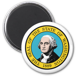 Washington, los E.E.U.U. Imán Redondo 5 Cm