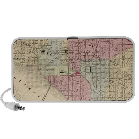 Washington Map by Mitchell Mini Speaker