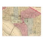 Washington Map by Mitchell Postcard
