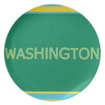 Washington Melamine Plate