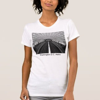 Washington Metro Station Looking at the Rails T-Shirt