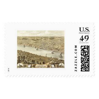 Washington, MO Panoramic Map - 1869 Postage