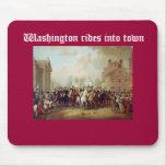 Washington monta en ciudad alfombrilla de ratón