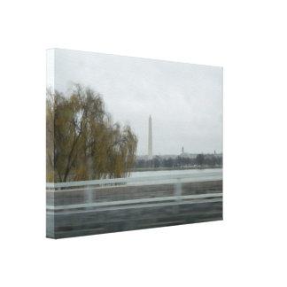 Washington Monument Across The River Canvas Print