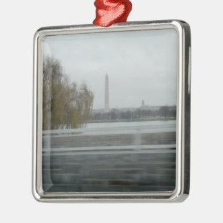 Washington Monument Across The River Christmas Ornaments
