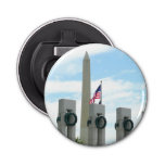 Washington Monument and WWII Memorial in DC Bottle Opener