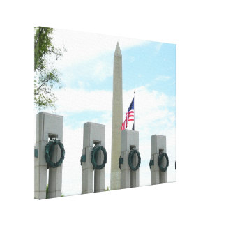 Washington Monument and WWII Memorial in DC Canvas Print