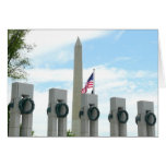 Washington Monument and WWII Memorial in DC Card
