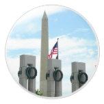 Washington Monument and WWII Memorial in DC Ceramic Knob