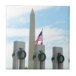 Washington Monument and WWII Memorial in DC Ceramic Tile
