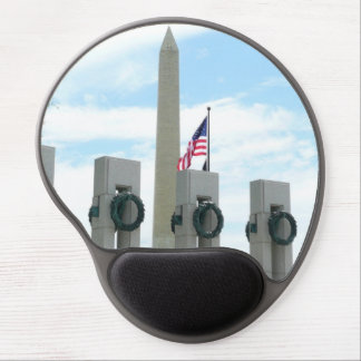 Washington Monument and WWII Memorial in DC Gel Mouse Pad