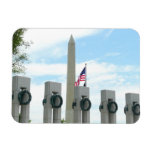 Washington Monument and WWII Memorial in DC Magnet