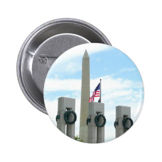Washington Monument and WWII Memorial in DC Pinback Button