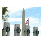 Washington Monument and WWII Memorial in DC Postcard