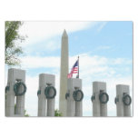 Washington Monument and WWII Memorial in DC Tissue Paper