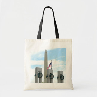 Washington Monument and WWII Memorial in DC Tote Bag