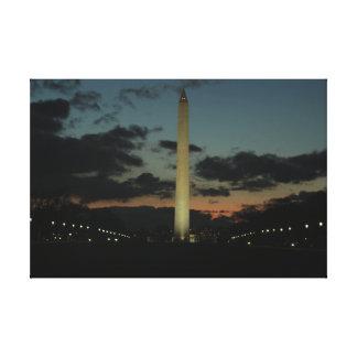 Washington Monument at Dusk. Canvas Print