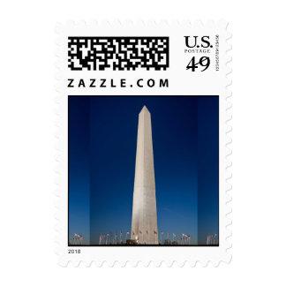 Washington Monument at Dusk Postage Stamp
