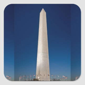 Washington Monument at Dusk Square Sticker