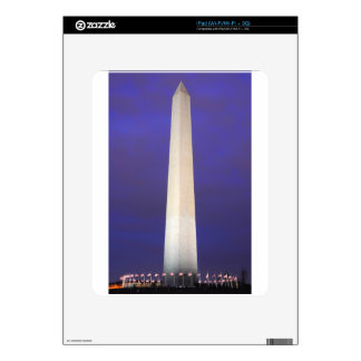Washington Monument at Night Decal For The iPad