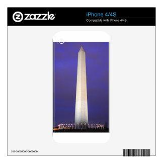 Washington Monument at Night iPhone 4 Decals