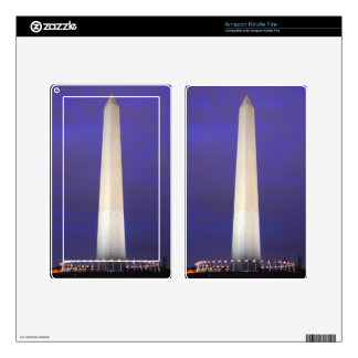 Washington Monument at Night Kindle Fire Decals