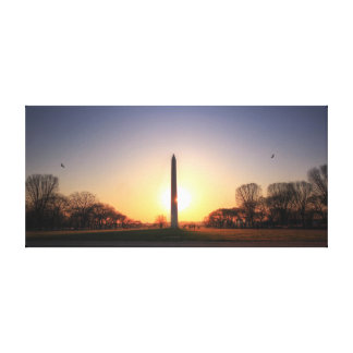 Washington Monument at Sunset Stretched Canvas Prints