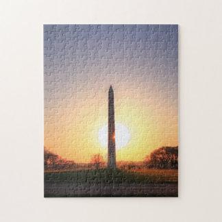 Washington Monument at Sunset Jigsaw Puzzles