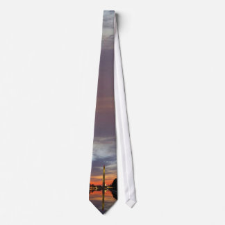 Washington Monument at Sunset Neck Tie