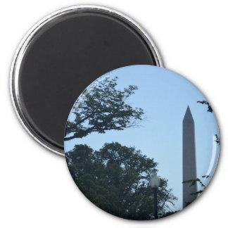 Washington Monument beyond the trees.JPG 2 Inch Round Magnet
