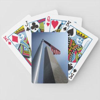 Washington Monument Bicycle Playing Cards