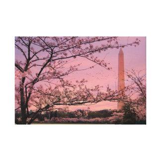 Washington Monument Cherry Blossom Festival Canvas Print