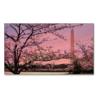 Washington Monument Cherry Blossom Festival Magnetic Business Card