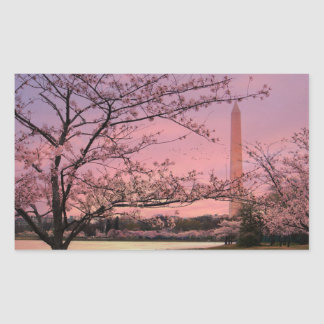 Washington Monument Cherry Blossom Festival Rectangular Sticker