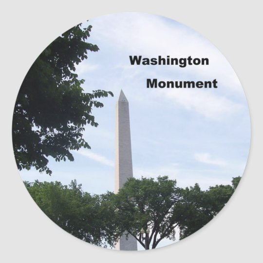 Washington Monument Classic Round Sticker