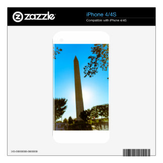 Washington Monument Decals For iPhone 4