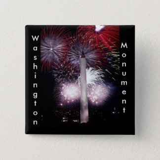 Washington Monument Fireworks Button