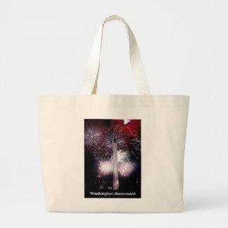 Washington Monument Fireworks Large Tote Bag
