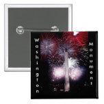 Washington Monument Fireworks Pinback Button