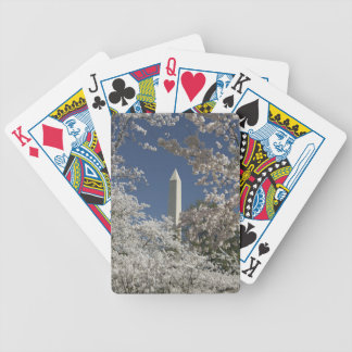 Washington Monument in Cherry Bicycle Playing Cards