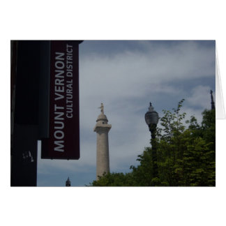 Washington Monument In Mount Vernon Baltimore Card