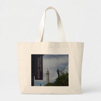 Washington Monument In Mount Vernon Baltimore Large Tote Bag