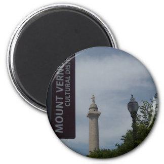 Washington Monument In Mount Vernon Baltimore Magnet