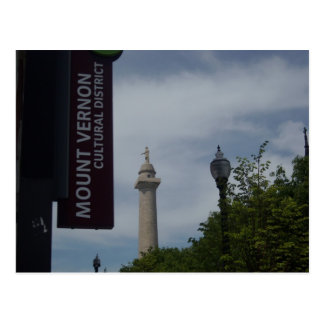 Washington Monument In Mount Vernon Baltimore Postcard