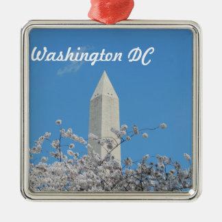 Washington Monument in Spring Christmas Tree Ornaments
