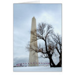Washington Monument in Winter Greeting Cards