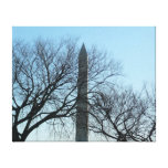 Washington Monument in Winter I Travel Photography Canvas Print