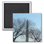 Washington Monument in Winter I Travel Photography Magnet