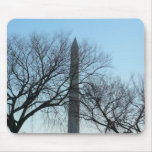 Washington Monument in Winter I Travel Photography Mouse Pad