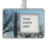 Washington Monument in Winter I Travel Photography Ornament